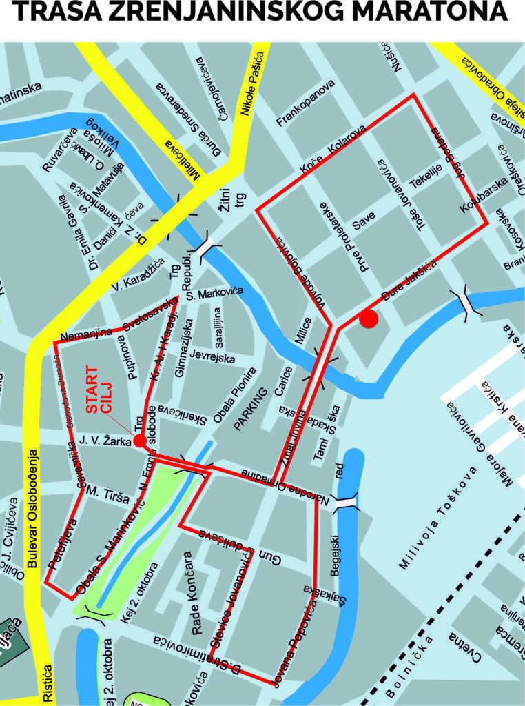 mapa maratona a4 trasa