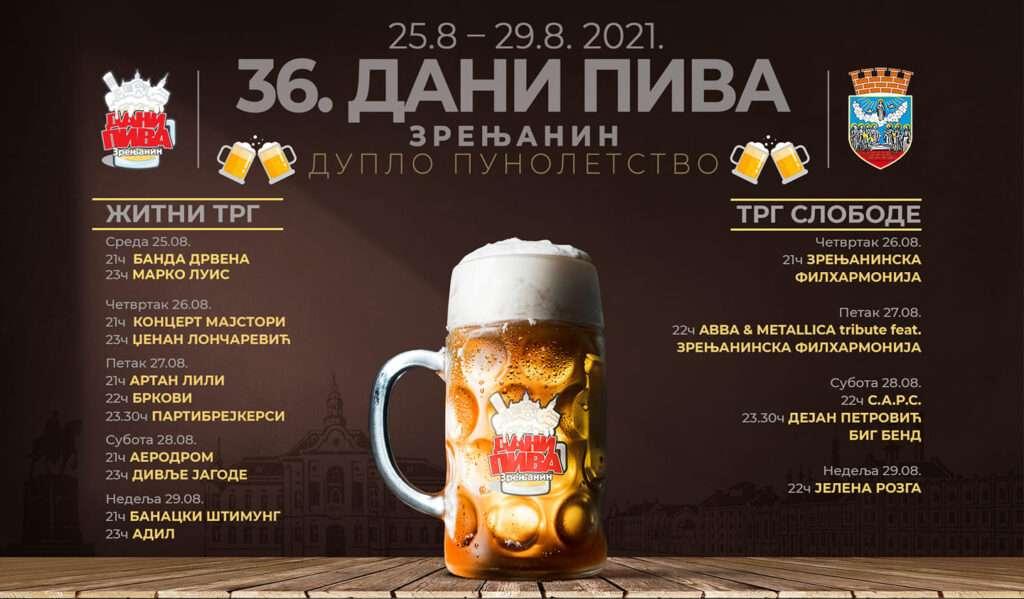 36 dani piva zrenjanin program 2021
